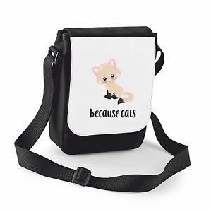 【送料無料】ショルダーバッグcat 7 because cats cute statement shoulder bag small