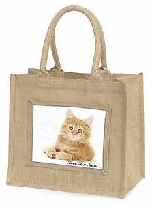 【送料無料】ジンジャー#;#ジュートショッピングバッグクリスginger kitten 039;love you mum039; large natural jute shopping bag chris, ac158lymbln