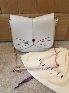【送料無料】テッドベイカーfelinneクロスrrp129ted baker felinne cat light grey leather cross body bag rrp 129 dust bag