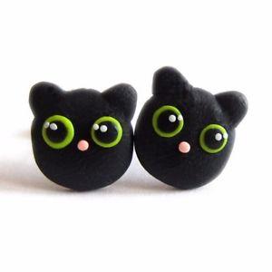 【送料無料】猫 キャット ネコ イヤリング ピアスイヤリングハロウィーン