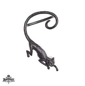 【送料無料】猫 キャット ネコ イヤリング ピアスブラックキャットsithゴシックイヤラップ