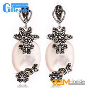 【送料無料】猫 キャット ネコ イヤリング ピアスチベットシルバーイヤリングファッション16x32mm oval stone carved tibetan silver dangle earrings women fashion jewelery