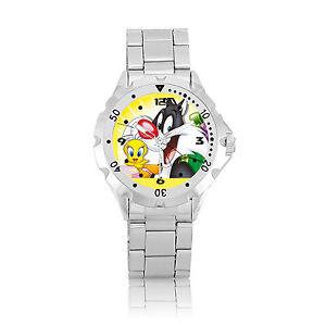 【送料無料】ネコ 猫 ネックレス ベゼルステンレススチールm412 tweety bird amp; sylvester cat rotating bezel stainless steel wrist watch