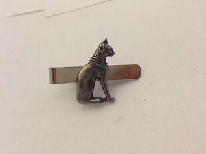 【送料無料】ネコ 猫 ネックレス 4cmネクタイピンエジプトecppinシロメegyptian cat ecppin english pewter emblem on a tie clip 4cm long