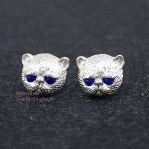 【送料無料】ネコ 猫 ネックレス スターリングシルバーポストスタッドイヤリング925 sterling silver lovely cat post stud earrings a1593