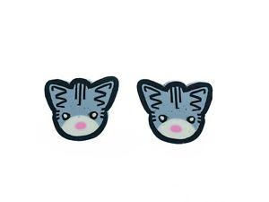 【送料無料】ネコ 猫 ネックレス スタッドボルトスタッドイヤリングcat grey studs miniblings stud earrings cat cats kitten
