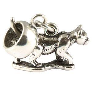 【送料無料】ネコ 猫 ネックレス スターリングシルバーキャリアビードcat kitten 925 sterling silver dangle charm carrier bead
