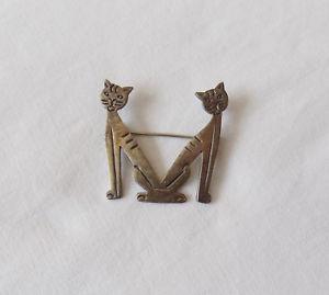 【送料無料】ネコ 猫 ネックレス シルバーブローチbeautiful large silver cat m brooch