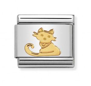 【送料無料】ネコ 猫 ネックレス イタリアゴールドファミリーコレクションツールnomination italy nominations gold family cat 2017 collection charm tool gift