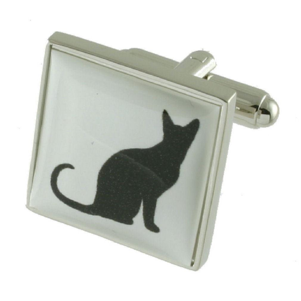 【送料無料】ネコ 猫 ネックレス カフリンクスカフスボタンペットネコボックスオン