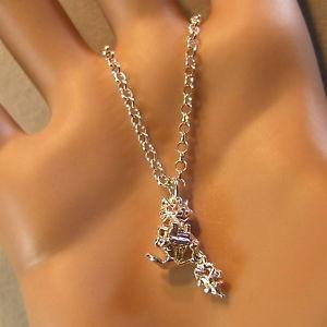 【送料無料】ネコ 猫 ネックレス スターリングシルバーペンダントチェーン sterling silver moveable cat pendant amp; chain