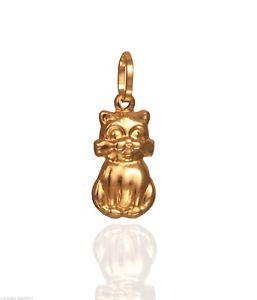 【送料無料】ネコ 猫 ネックレス ゴールド9ct gold cat charm
