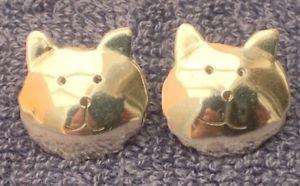 【送料無料】ネコ 猫 ネックレス イヤリングシルバースターリングシルバーearrings silver kittens cats head large 16mm double sided sterling silver