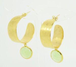 【送料無料】ネコ 猫 ネックレス ストーンフープイヤリングaylas gold plated semi precious gem stone hoop earrings cat eye