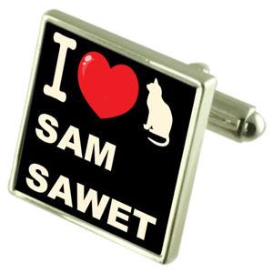 【送料無料】ネコ 猫 ネックレス カフリンクスサムi love my cat cufflinks sam sawet