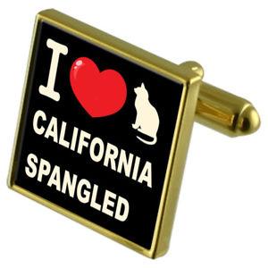 【送料無料】ネコ 猫 ネックレス カフスボタンカリフォルニアi love my cat goldtone cufflinks california spangled