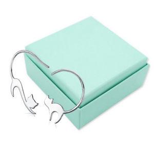 【送料無料】ネコ 猫 ネックレス スターリングシルバードロップイヤリング5x925 sterling silver cute little cat drop earrings for women p2x2