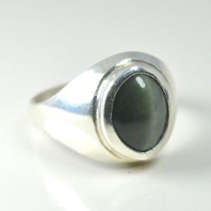【送料無料】ネコ 猫 ネックレス #シルバーリングチャクラヒーリングnatural cat039;s eye 925 silver ring 5 ct bold chakra healing astrological gemstone