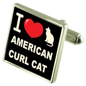 【送料無料】ネコ 猫 ネックレス スターリングシルバーカフスボタンマネークリップアメリカンカールi love my cat sterling silver 925 cufflinks bond money clip american curl cat