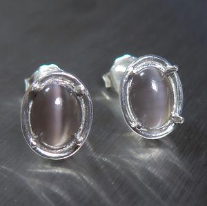 【送料無料】ネコ 猫 ネックレス #グレーブラウンシルバースタッドイヤリング38ct natural sillimanite cat039;s eye taupe grey brown 925 silver studs earrings