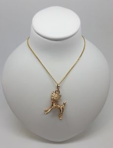 【送料無料】ネコ 猫 ネックレス イエローゴールドペンダントmiran 080591 9k yellow gold cat pendant rrp550
