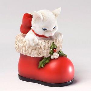 【送料無料】猫 ネコ キャット 置物 サンタクリスマスcharming purrsonalities cat in red shoe are you santa christmas figurine 4027986