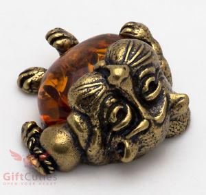 【送料無料】猫 ネコ キャット 置物 オレンジsolid brass amber figurine of cat sleeping ironwork