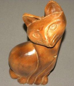 【送料無料】猫 ネコ キャット 置物 ヴィンテージvintage wooden cat figure 10034; figurine 1970039;s solid wood