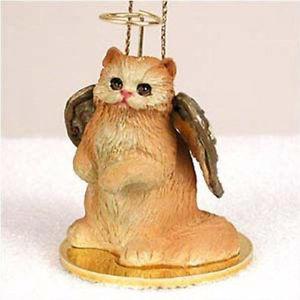 【送料無料】猫 ネコ キャット 置物 ペルシャpersian red angel cat tiny one ornament figurine statue