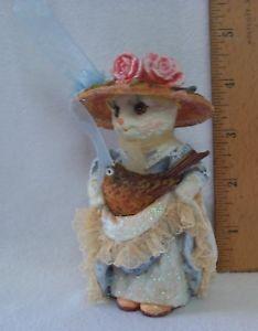 【送料無料】猫 ネコ キャット 置物 ビクトリアロビン#ローマロスvictorian cat wrobin 034;purrsonalities034; figurine by bronwen ross for roman, inc