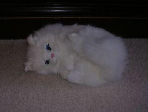 【送料無料】猫 ネコ キャット 置物 ウサギc357w