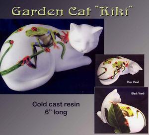 【送料無料】猫 ネコ キャット 置物 #キキ#ガーデンコレクション cat 034;kiki034; cats in the garden collection figurine