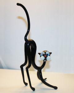 【送料無料】猫 ネコ キャット 置物 アートガラスムラノガラス#