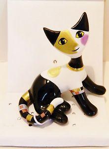 【送料無料】猫 ネコ キャット 置物 ゲーベル###カラフルgoebelwachtmeister cat 034; rosanna 034;  884018  for 2016 colorful  bnib
