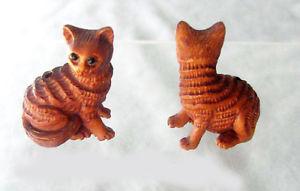 【送料無料】猫 ネコ キャット 置物 トラネコボックスウッドビーズバイclever tiger kitten carved boxwood furry tabby cat bead 4128bi