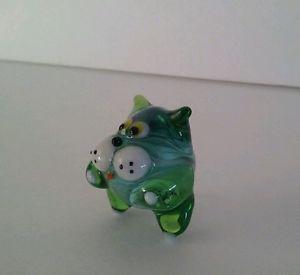 【送料無料】猫 ネコ キャット 置物 ガラスロシアミニblown glass figurine russian art handmade cat mini home decor
