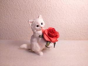 【送料無料】猫 ネコ キャット 置物 アーティストバラcountry artists kittens snow white amp; red roses