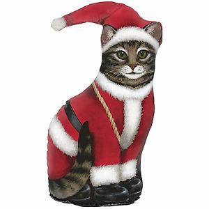【送料無料】猫 ネコ キャット 置物 ドアストッパーサンタドアストッパサンタクリスマスdoor stopper  santa cat door stop santa cat doorstop christmas decoration