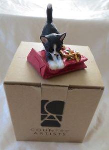 【送料無料】猫 ネコ キャット 置物 クリスマスアーティストcountry artists kitten tales cat on christmas bag figurine ca03505 nib