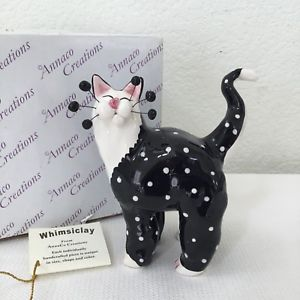 【送料無料】猫 ネコ キャット 置物 #サブリナ2001 whimsiclay annaco creations by amy lamcombe 21000 sabrina cat w box