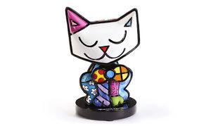 【送料無料】猫 ネコ キャット 置物 ロメロインチromero bobblehead cat figurine 45 inches