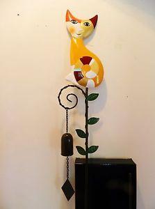 【送料無料】猫 ネコ キャット 置物 ゲーベル#エステラカラフルペンgoebel  wachtmeister cats garden jewel stake 034; estella 034; ,  colorful nib