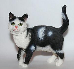 【送料無料】猫 ネコ キャット 置物 ブラックイヌ