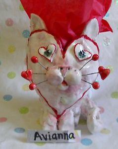 【送料無料】猫 ネコ キャット 置物 ##ビンテージユニーク034;avianna034; very rare cat head vase, vintage, truly oneofakind, helps animals