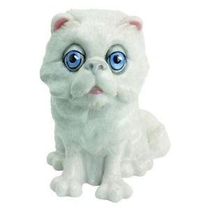 【送料無料】猫 ネコ キャット 置物 シェバペルシャアローラタグlittle paws sheba white persian cat figurine arora uk fish tag nib