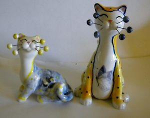 【送料無料】猫 ネコ キャット 置物 クラシックバタフライ#classic whimsiclay 034;butterfly amp; bee034; rare salt amp; pepper cats