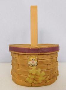 【送料無料】猫 ネコ キャット 置物 バスケット##ブロッサムバケット