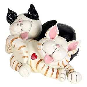 【送料無料】猫 ネコ キャット 置物 ガーデンホームストライプ