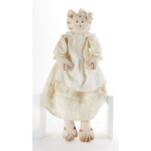 【送料無料】猫 ネコ キャット 置物 インチレースドレス delton 23 inches sitting lace dress cat