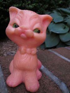 【送料無料】猫 ネコ キャット 置物 ロシアゴムビンテージумныйкотикrussian rubber clever cat kitten vintage toy умный котик